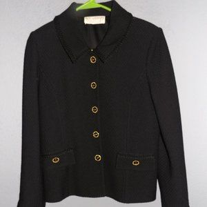 st. john collection black boucle size MED 8-10